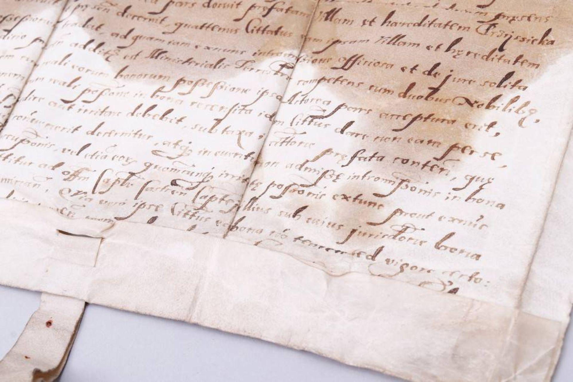 Dokument mit 2 Rotsiegeln, Gnesen (Heute Gnieznow, Polen), um 1594 - Image 6 of 7