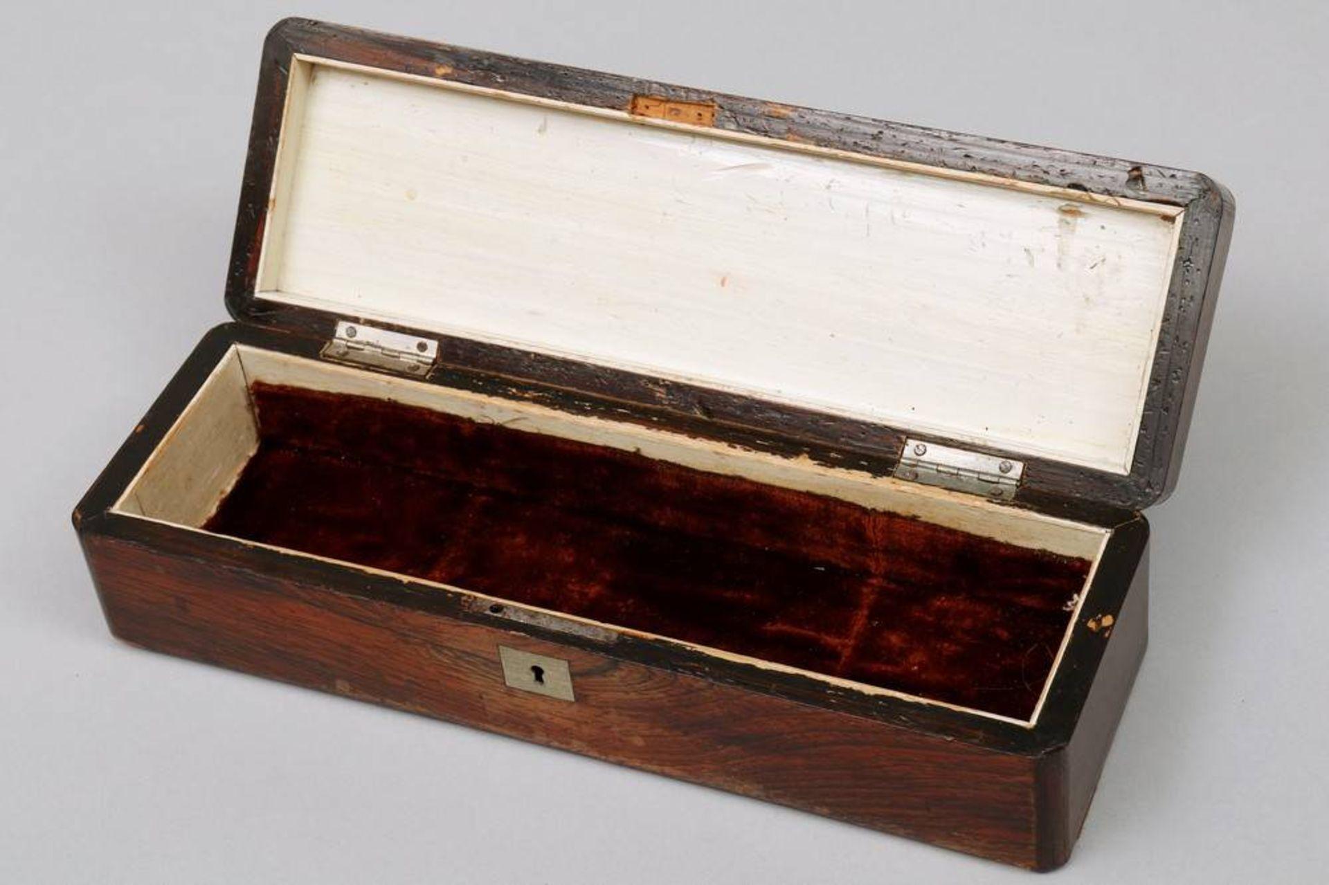 Holzschatulle, wohl deutsch, um 1900 - Bild 5 aus 5