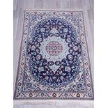 Teppich, Nain, Persien, Wolle mit Seide auf Baumwolle