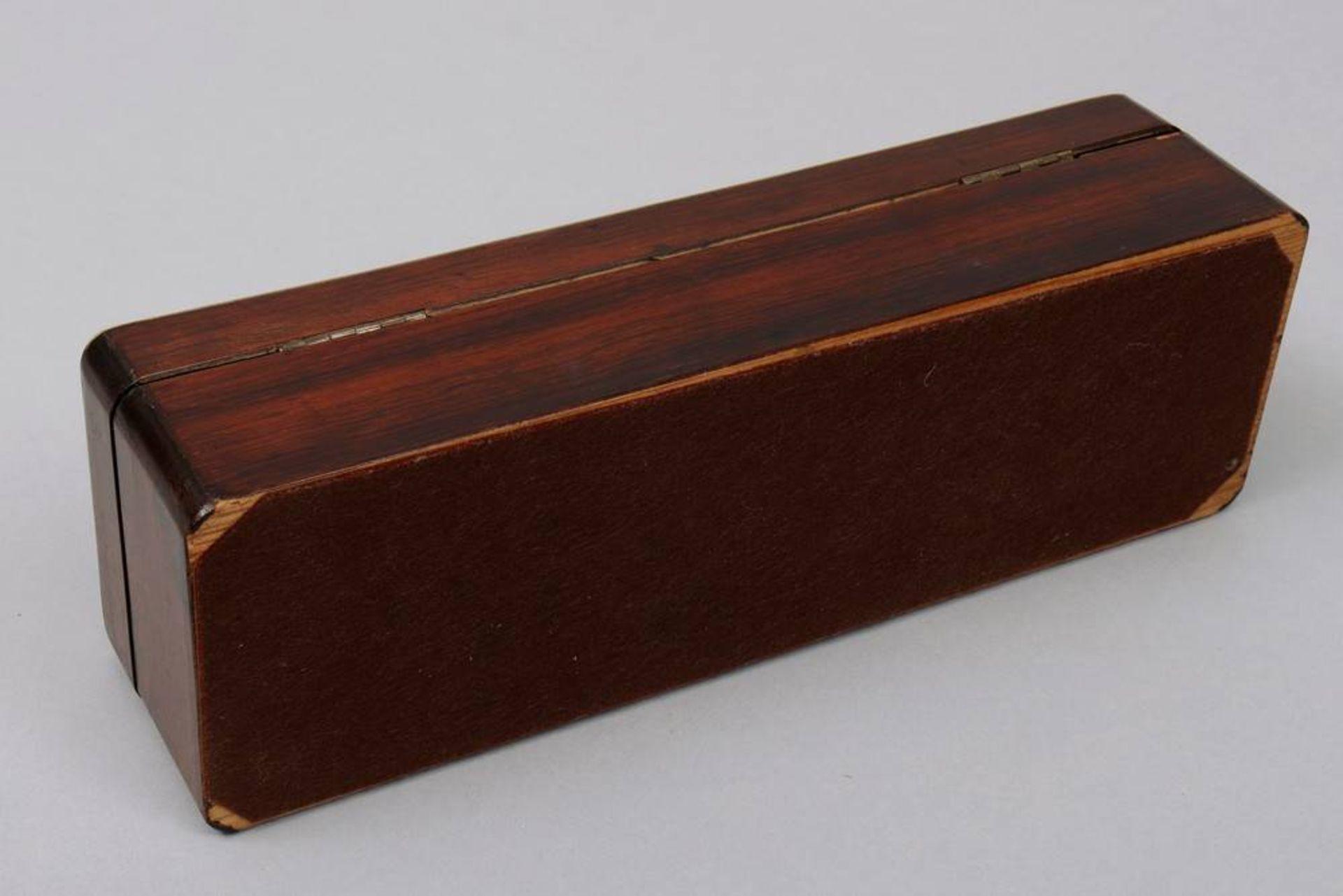 Holzschatulle, wohl deutsch, um 1900 - Bild 4 aus 5