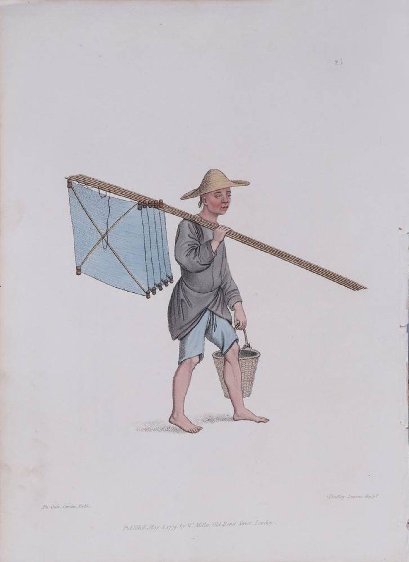 """7 Tafeln aus """"The Costume of China"""", kolorierte Stiche von John Dadley nach Zei - Image 8 of 13"""