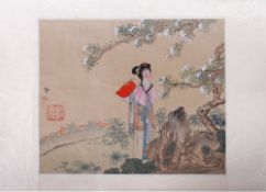 Seidenmalerei, wohl Japan, 1. Hälfte 20.Jh.