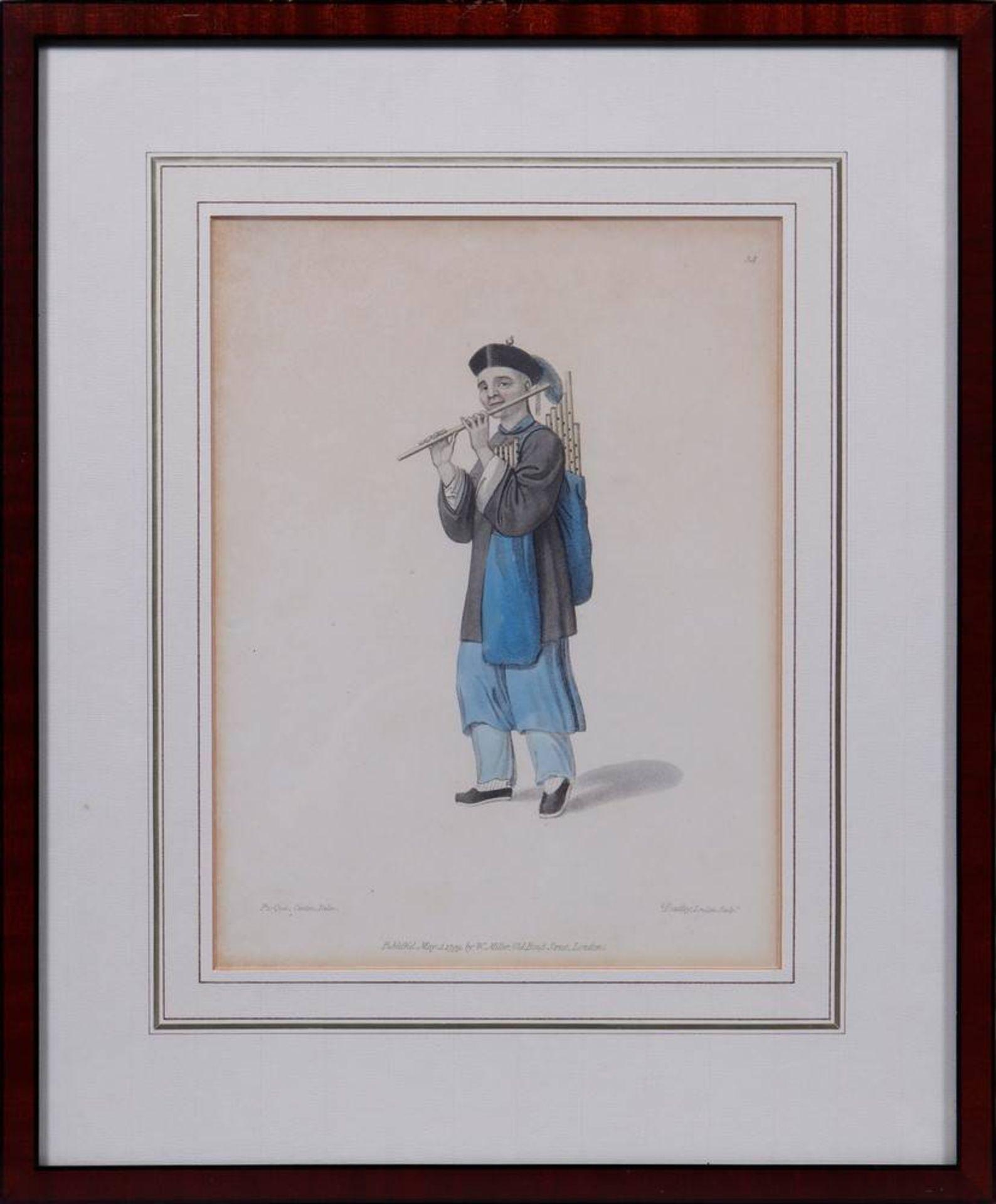 """7 Tafeln aus """"The Costume of China"""", kolorierte Stiche von John Dadley nach Zei - Image 13 of 13"""