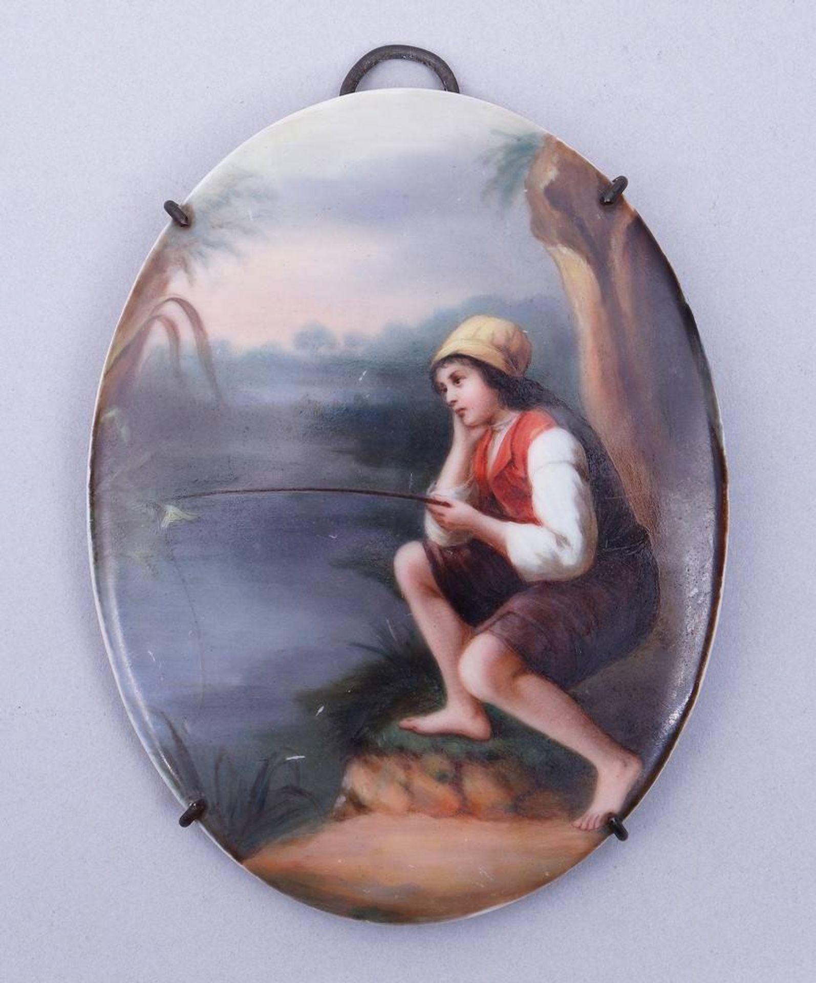 Kleine Bildplatte, wohl Thüringen, 19.Jh.