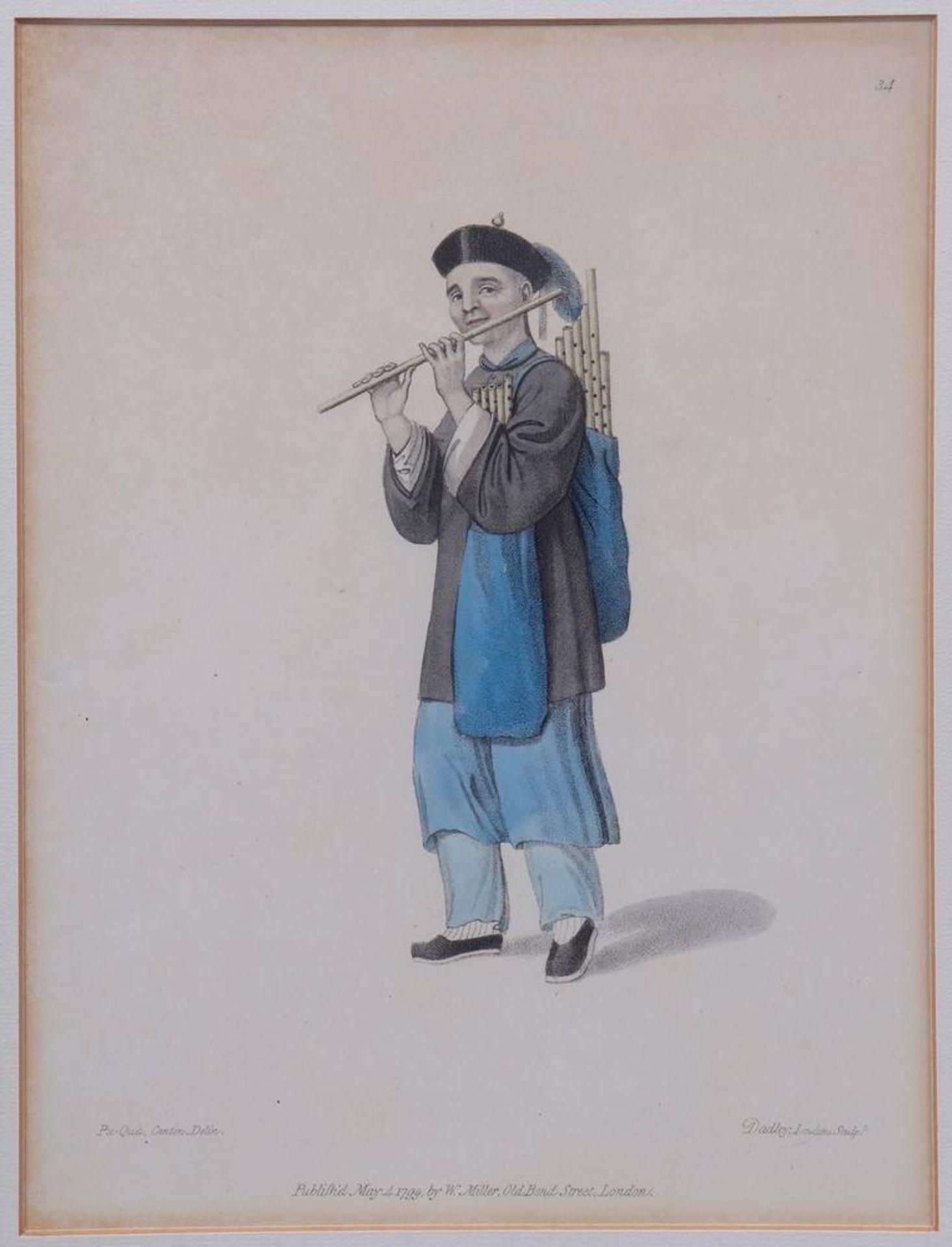 """7 Tafeln aus """"The Costume of China"""", kolorierte Stiche von John Dadley nach Zei - Image 5 of 13"""