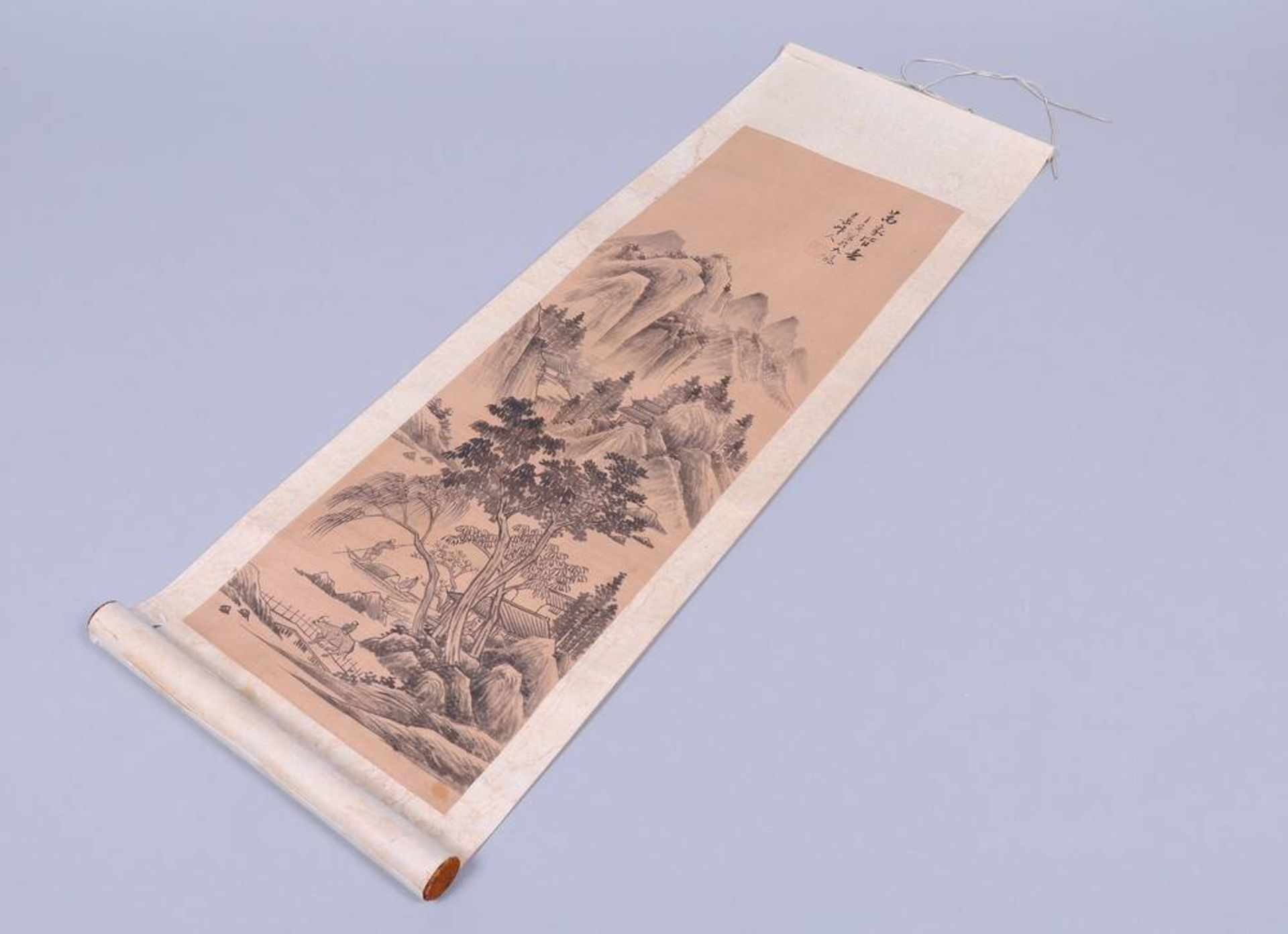 Rollbild, Tusche auf Seide, auf Papier, Japan, Meiji-Zeit - Image 2 of 4