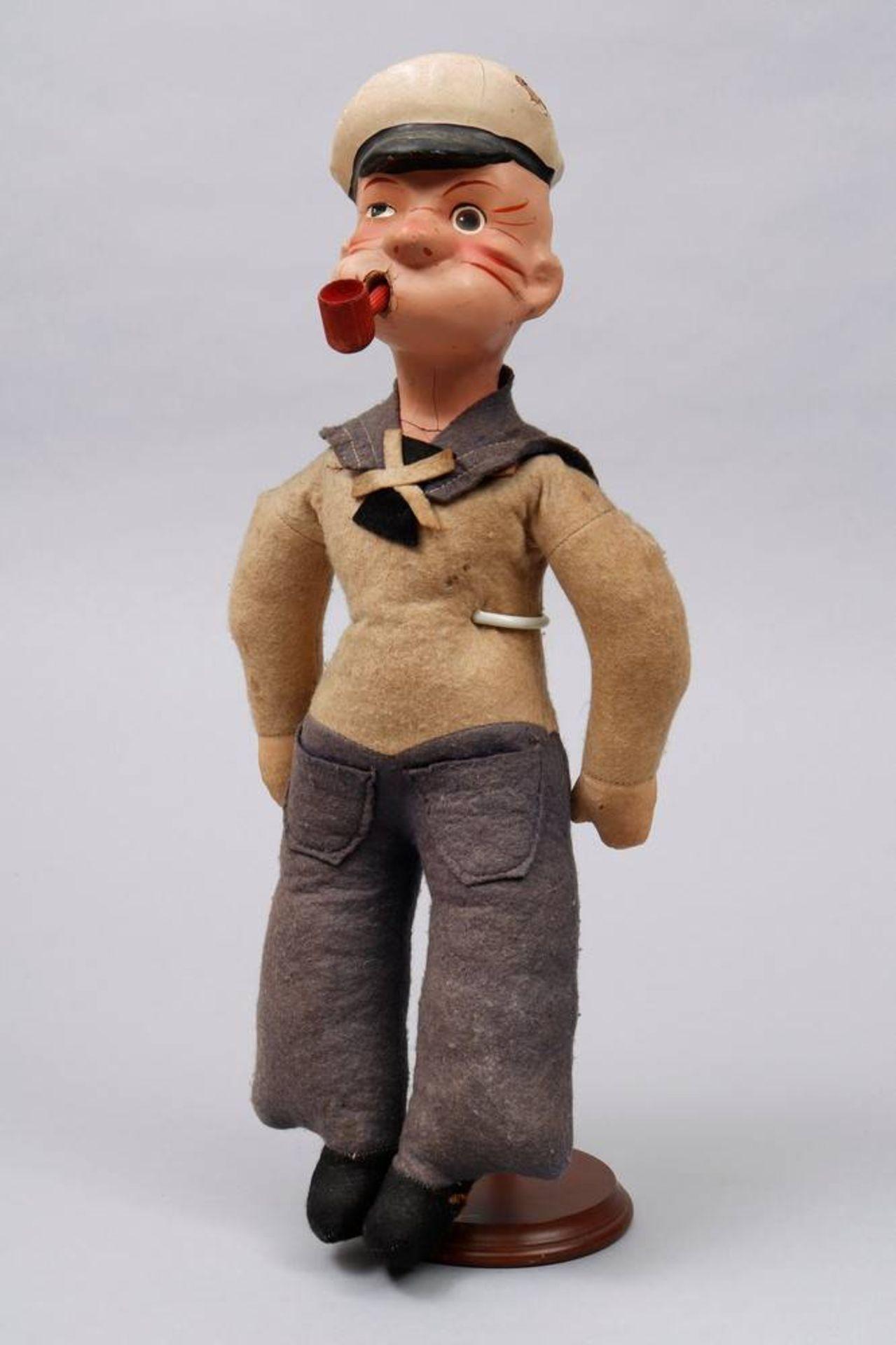 """Puppe, """"Popeye"""", wohl deutsch, um 1930"""