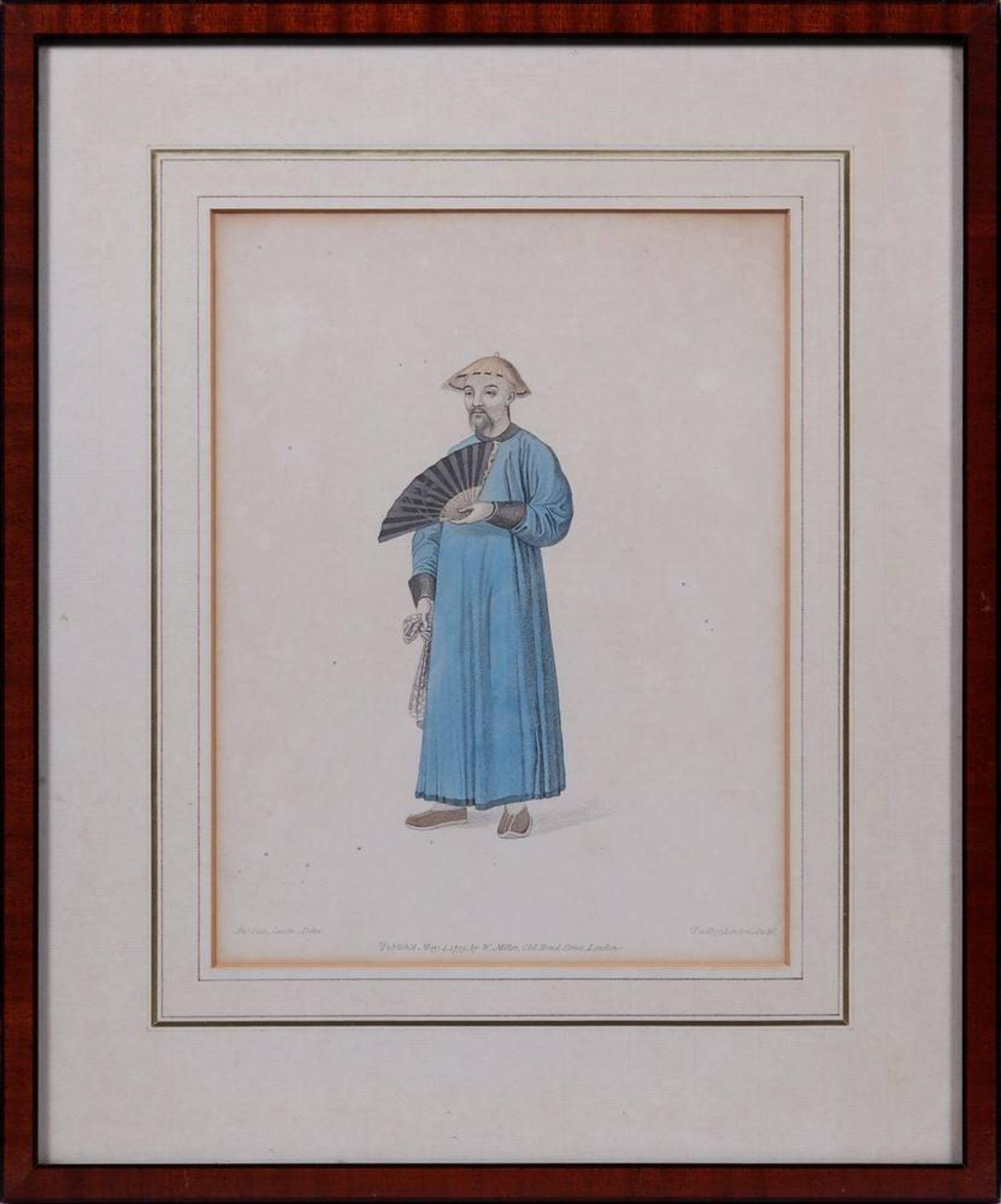 """7 Tafeln aus """"The Costume of China"""", kolorierte Stiche von John Dadley nach Zei - Image 11 of 13"""