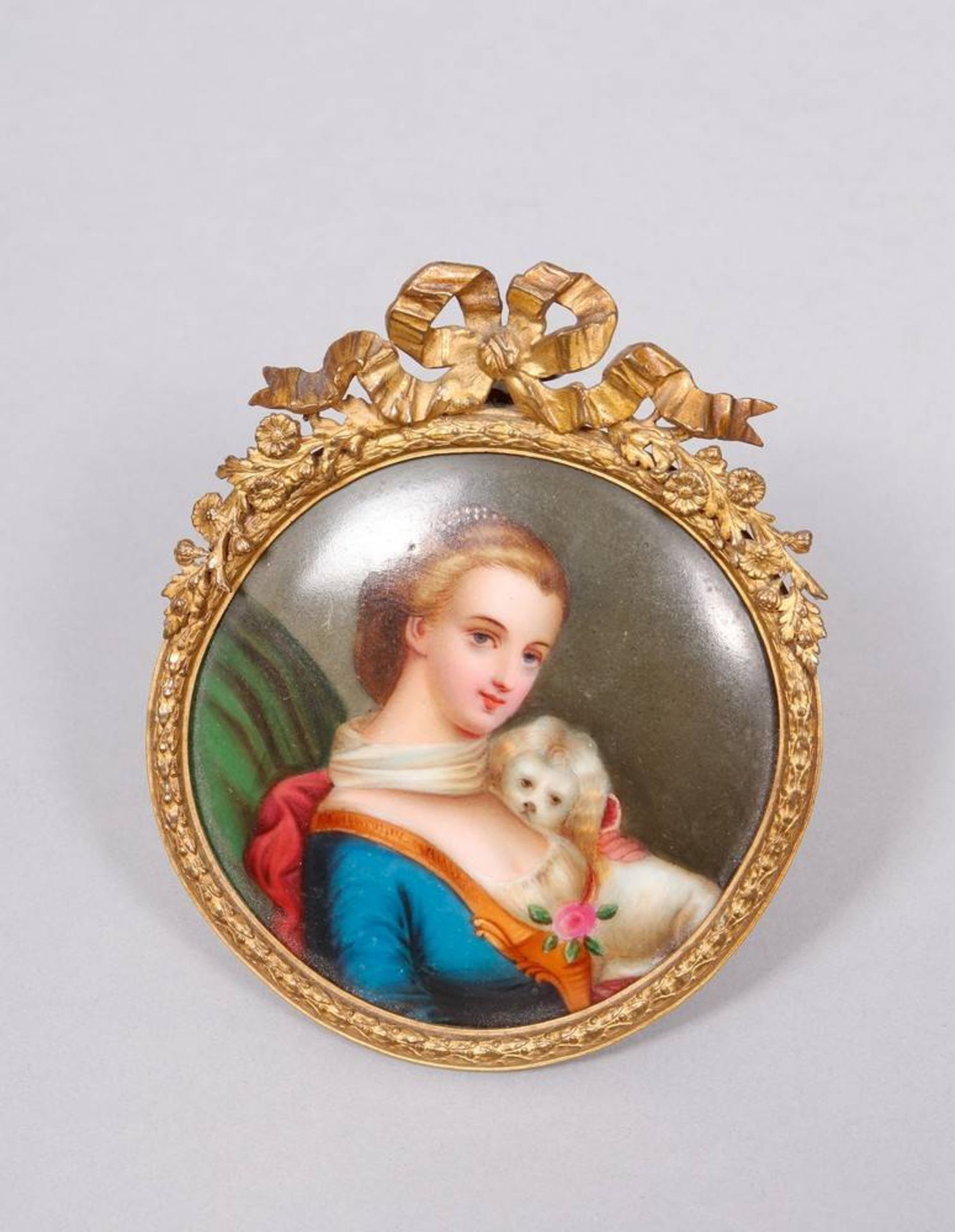 Miniatur, wohl Frankreich, 19.Jh., Porzellan, polychrom bemalt