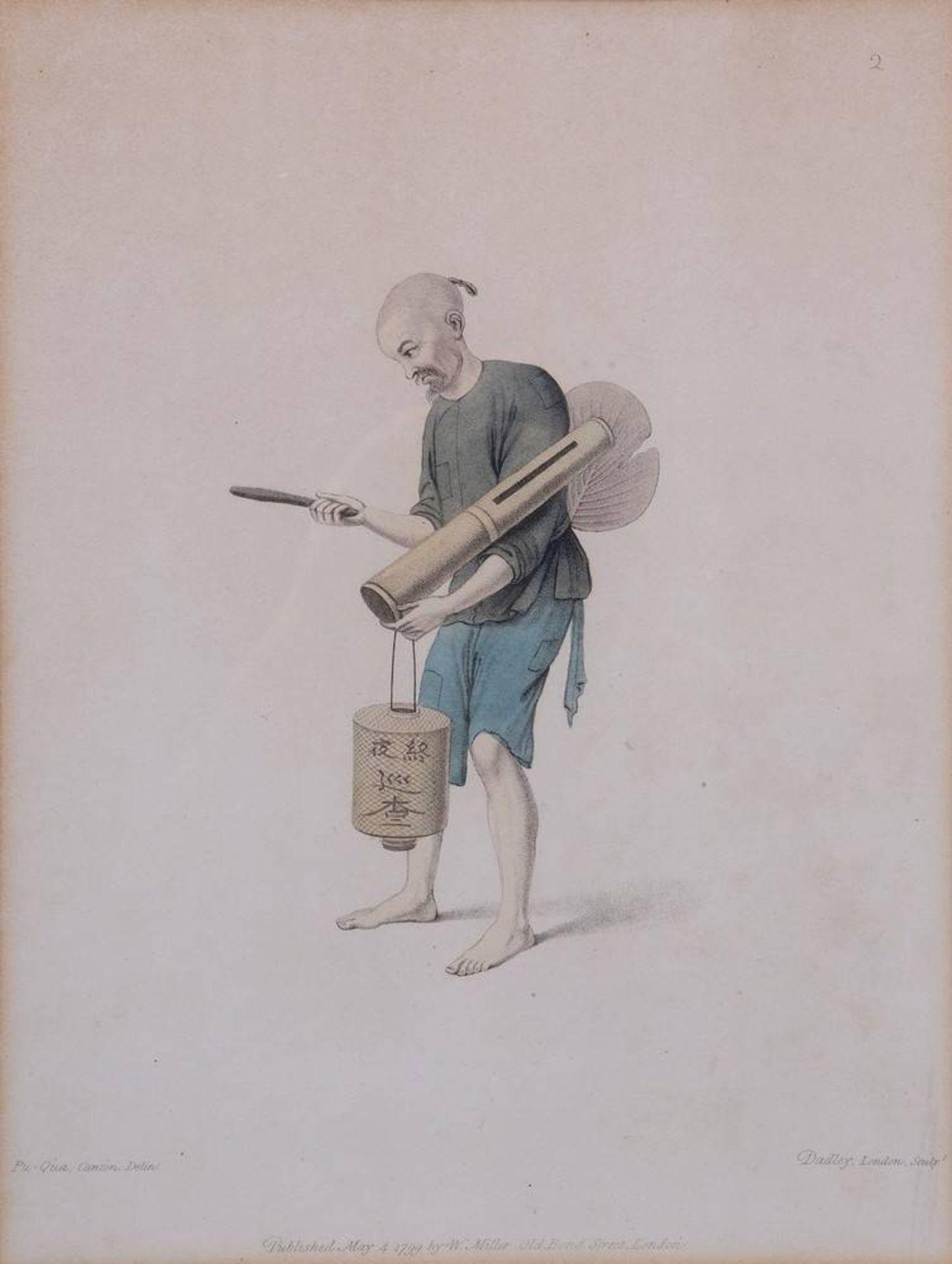 """7 Tafeln aus """"The Costume of China"""", kolorierte Stiche von John Dadley nach Zei - Image 6 of 13"""