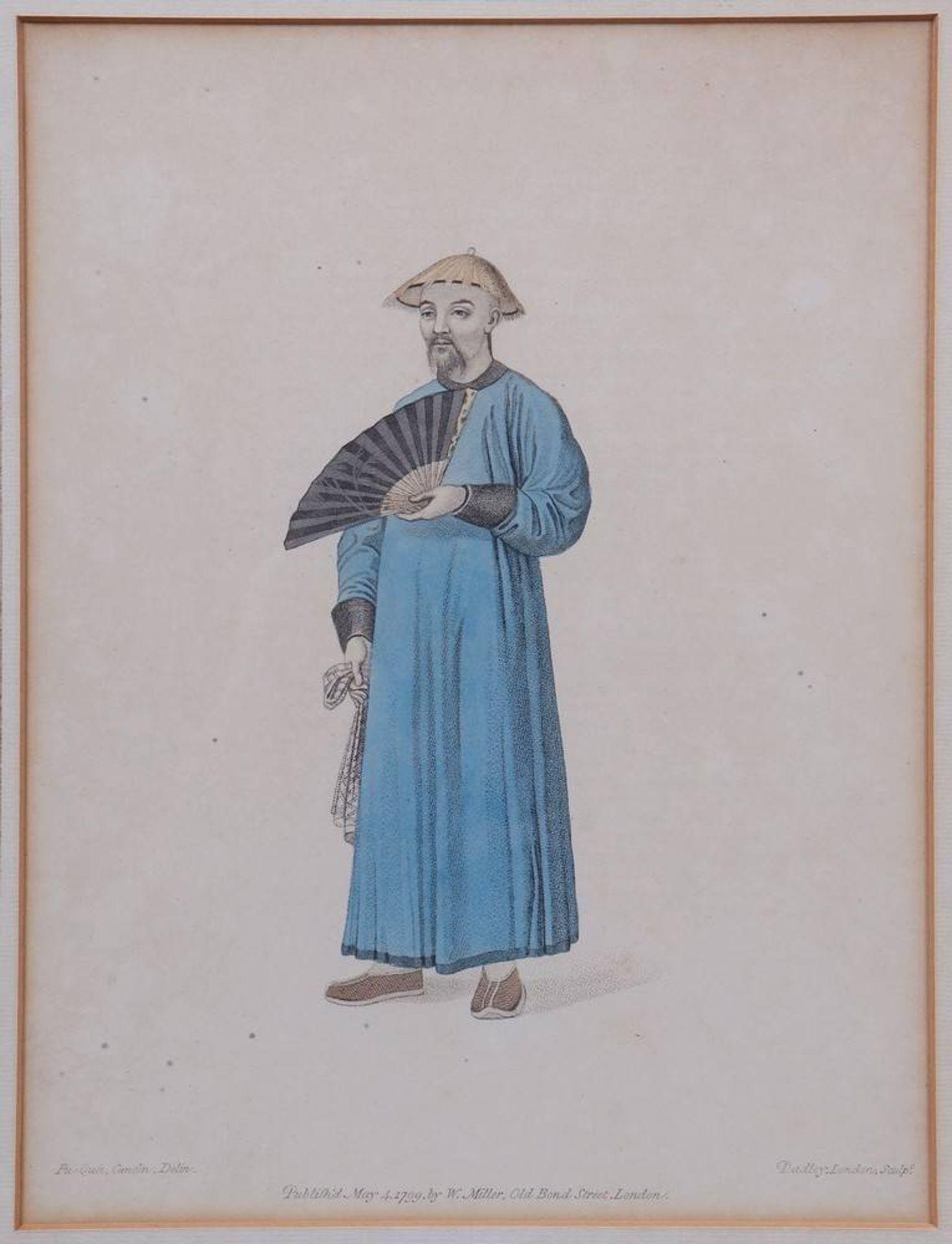 """7 Tafeln aus """"The Costume of China"""", kolorierte Stiche von John Dadley nach Zei - Image 2 of 13"""