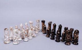 Satz Schachfiguren, ungemarkt, U.S.A., 20.Jh.
