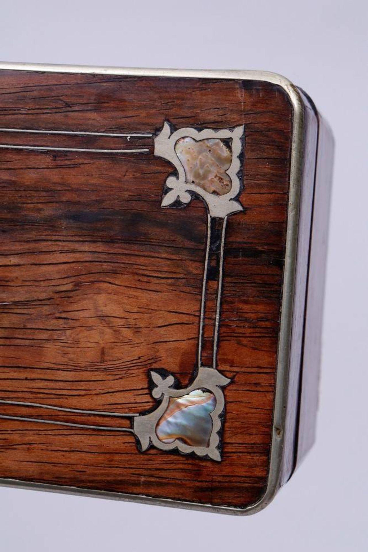 Holzschatulle, wohl deutsch, um 1900 - Bild 3 aus 5