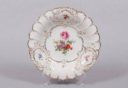 """Prunkteller, Meissen, Dekor """"Deutsche Blume"""", 2.H. 20.Jh."""