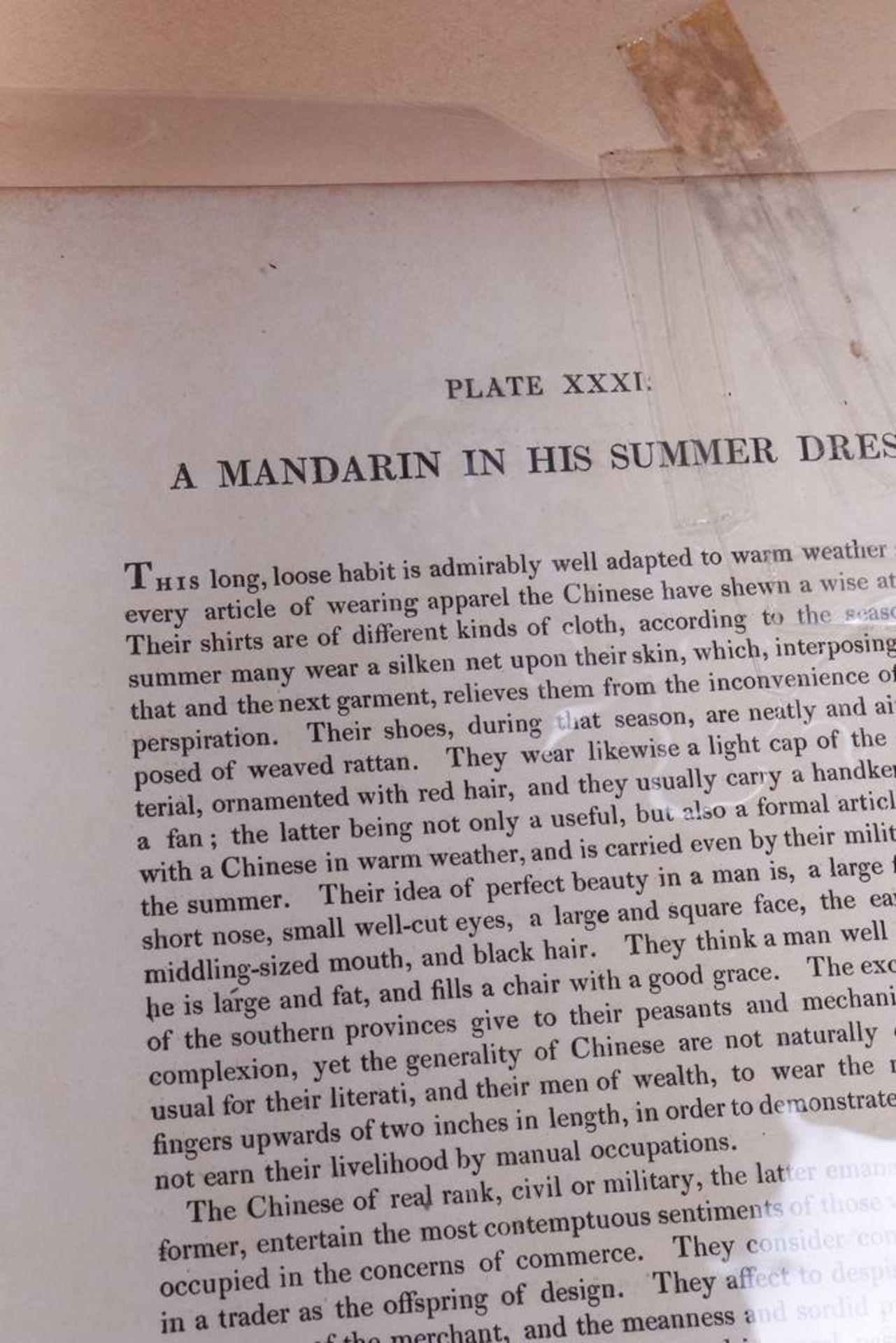 """7 Tafeln aus """"The Costume of China"""", kolorierte Stiche von John Dadley nach Zei - Image 3 of 13"""