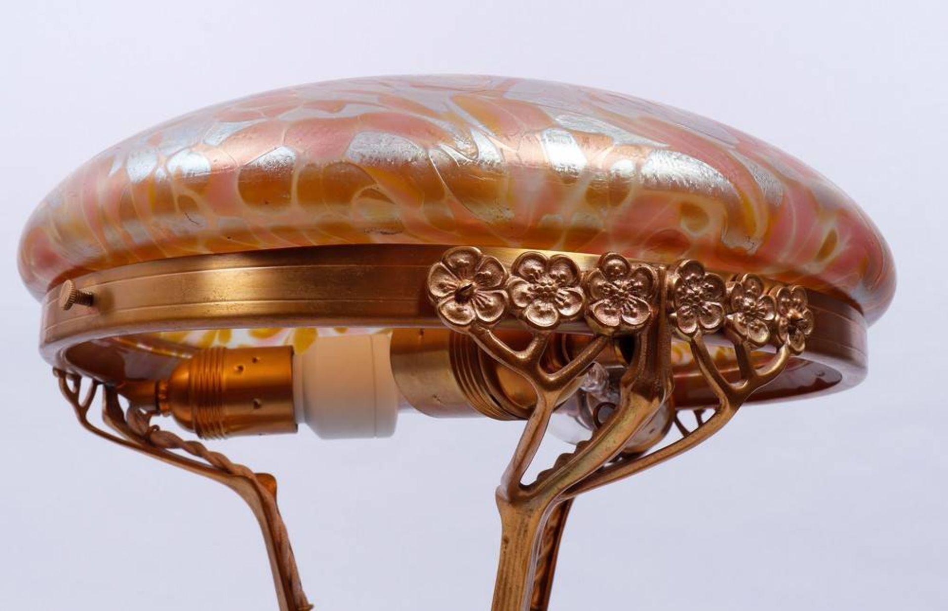 Art Nouveau table lamp, probably Loetz, 1st half 20th C. - Image 5 of 6