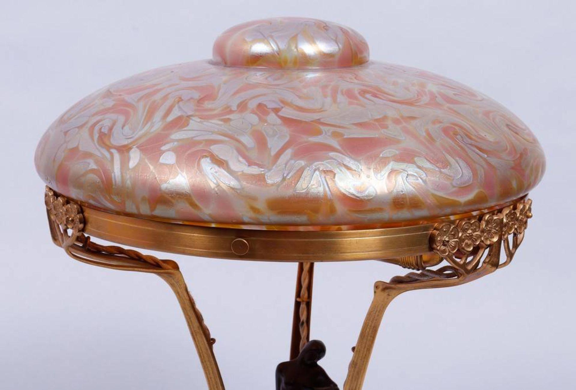 Art Nouveau table lamp, probably Loetz, 1st half 20th C. - Image 4 of 6