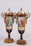 Pair of lidded vases, Chateau des Tuileries, Sèvres, around 1840