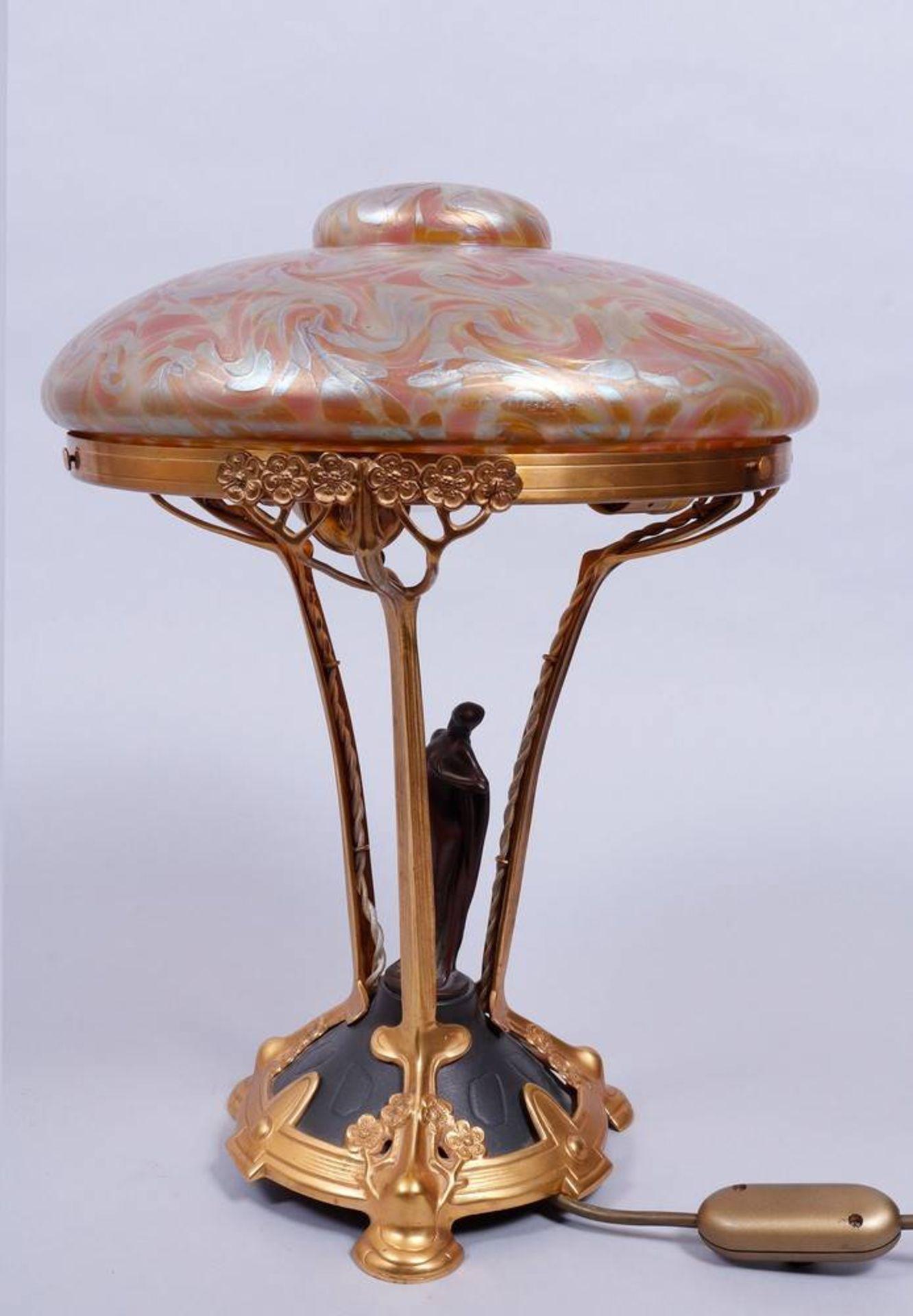 Art Nouveau table lamp, probably Loetz, 1st half 20th C. - Image 2 of 6