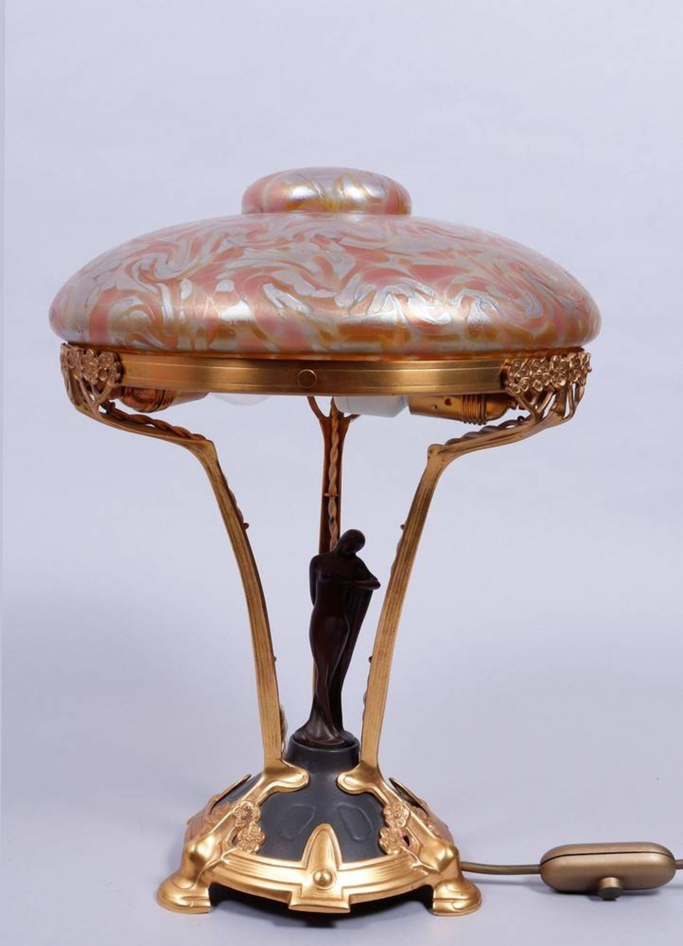 Art Nouveau table lamp, probably Loetz, 1st half 20th C.