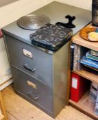 A Triumph steel filing cabinet; another similar (2)