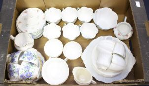 A collection of assorted ceramic part tea sets, including Royal Crown Derby, Shelley etc mostly 20th