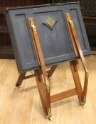 A 19th Century mahogany easel/folio stand, brass mounts *** Provenance: from the Estate of the