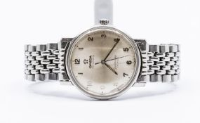 A circa 1960/70's Omega Automatic Seamaster De Ville stainless bracelet watch, Arabic numerals