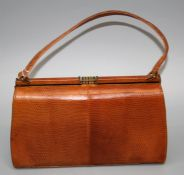 An early 20th Century lady's snakeskin handbag by Mappin and Webb.