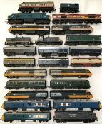 Railway: A collection of used OO gauge locomotives to include Hornby, Triang, Kate, Lima. In used