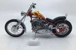 Franklin Mint: A boxedHarley Davidson 'Easy Rider' Billy Bike, by Franklin Mint. Rare Bike with
