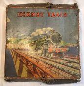 Hornby: A boxed Hornby O gauge clockwork no.2 mixed goods train set. C1930. L.M.S. 4-4-2 locomotive