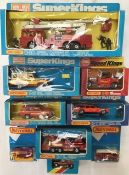Diecast: Matchbox and Lledo fire fighting vehicles to include Superkings K-39 Snorkel, K-75
