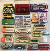 Diecast: A collection of assorted boxed diecast and plastic vehicles to include Rio, Wiking,