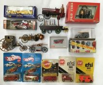 Diecast: A collection of assorted diecast, plastic and tinplate fire fighting vehicles to include