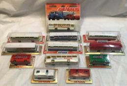 Diecast: A collection of assorted various boxed and carded diecast vehicles to include: Majorette,