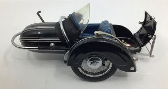 Franklin Mint: A boxed BMW R-50 Motorcycle and sidecar by Franklin Mint. Boxed with papers.