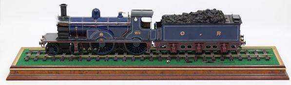 Caledonian: An O gauge, kit built, 4-4-0, locomotive and tender, Caledonian Railway, '18', unknown