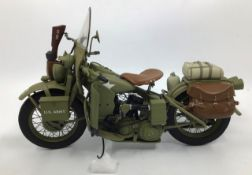 Franklin Mint: A boxed Harley Davidson 1942 WDA Military Motorcycle by Franklin Mint. Boxed with