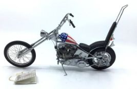 Franklin Mint: A boxed Harley Davidson Ultimate Chopper ref: B11WL73. Boxed with tag. Excellent
