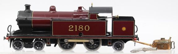 LMS: An O Gauge, clockwork, 4-4-2, locomotive, No. 2180, complete with Meccano key and small Meccano