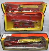 Corgi: A collection of fire fighting vehicles to include 1120 Dennis Simon Snorkel, 1118 Chubb