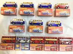 Matchbox: A collection of assorted Matchbox 75 Superfast models to include: London Buses, No. 17