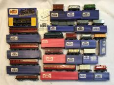 Hornby: A collection of assorted Hornby Dublo Three rail BR locomotive EDL17, boxed along with