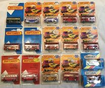 Matchbox: A collection of assorted carded Matchbox 75 Superfast models to include: London Buses, No.