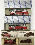 Conrad: A collection of diecast fire fighting vehicles to include 1018 Graf & Stift Fire Engine,