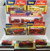 Dinky: A collection of assorted Dinky Fire fighting vehicles to include 266 E.R.F. Airport Rescue