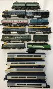 Railway: A collection of assorted OO gauge diesel locomotives by Hornby, Triang, Lima etc, along