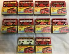 Matchbox: A collection of assorted Matchbox London Buses, No. 17, Isle of Man, London Museum,