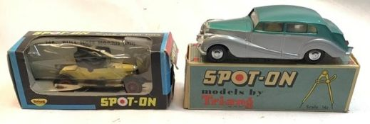 Spot-on: A boxed Triang Spot-On Rolls Royce and Morris Bull Nose. Both in good condition in original